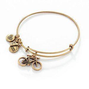 ALEX and ANI Bicycle Gold Charm Bangle Bracelet